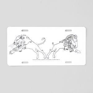 LionLamb_White Aluminum License Plate