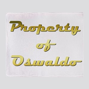 Property Of Oswaldo Male Throw Blanket