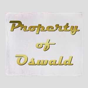 Property Of Oswald Male Throw Blanket