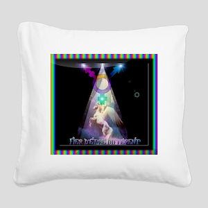 macaron fiereté transeA Square Canvas Pillow
