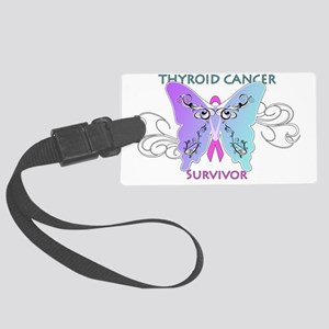 thycatsurvivorshirtonwhite Large Luggage Tag