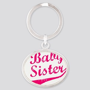 Baby Sister Oval Keychain