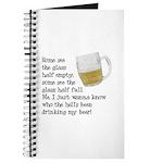 Half Glass Of Beer Journal