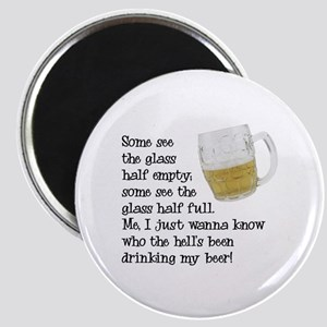 Half Glass Of Beer Magnet
