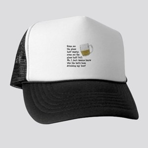 Half Glass Of Beer Trucker Hat