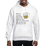 Half Glass Of Beer Hooded Sweatshirt