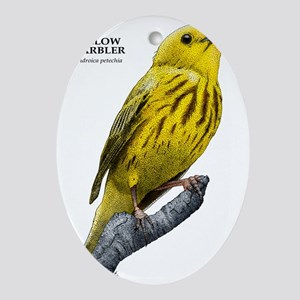 Yellow Warbler Oval Ornament