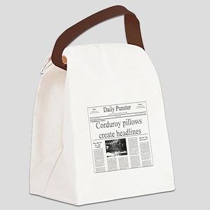 Pillow Headlines Canvas Lunch Bag