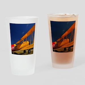 Calendar Shots, Plane Blue Sky (1)  Drinking Glass