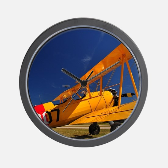 Calendar Shots, Plane Blue Sky (1) 3 sh Wall Clock