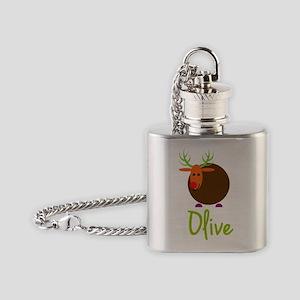 Olive-the-reindeer Flask Necklace