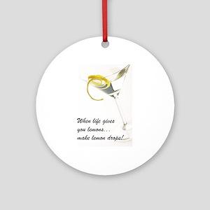 Lemon Drop Martini Ornament (Round)