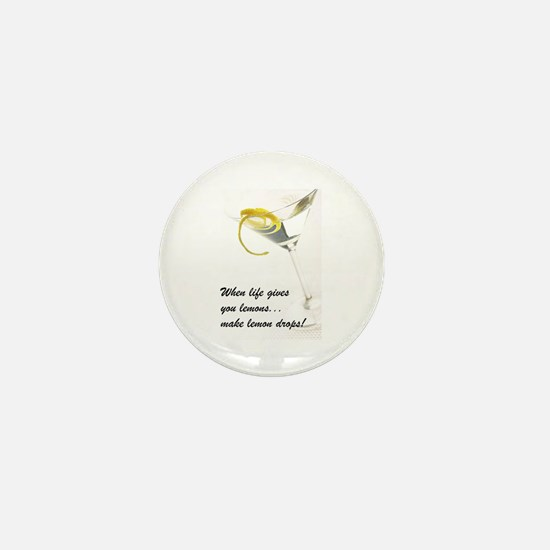Lemon Drop Martini Mini Button
