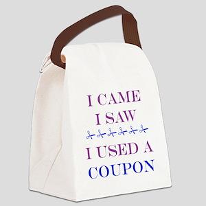 i came i saw i used a coupon Canvas Lunch Bag