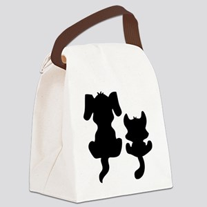cat and dog17 Canvas Lunch Bag