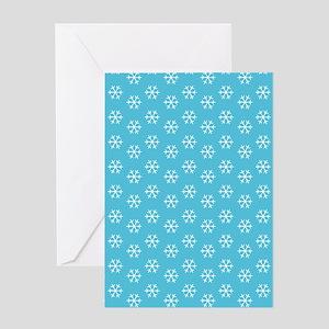 2125x2577flipflopssnowflakes Greeting Card