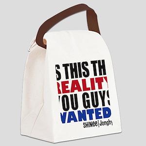 jonghyun reality Canvas Lunch Bag