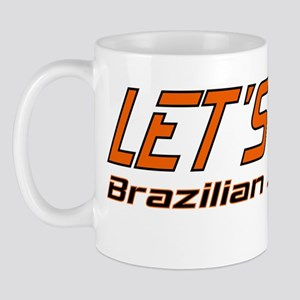 OrangeBlackText2 Mug