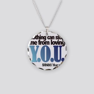 YOU Necklace Circle Charm