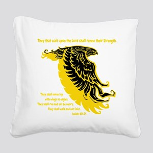 yellow, Isaiah 4031 Square Canvas Pillow
