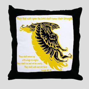 yellow, Isaiah 4031 Throw Pillow