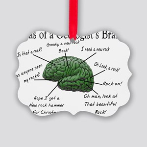 Atlas of a Geologists Brain Picture Ornament