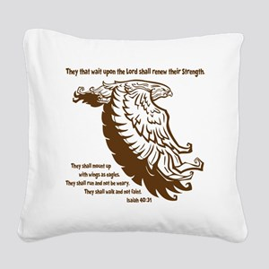 brown, Isaiah 4031 Square Canvas Pillow