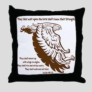brown, Isaiah 4031 Throw Pillow