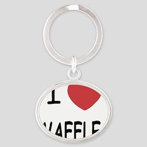 WAFFLES Oval Keychain