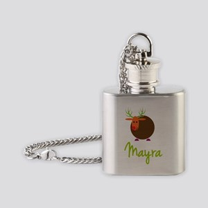 Mayra-the-reindeer Flask Necklace