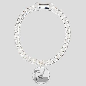 Giraffiti Charm Bracelet, One Charm