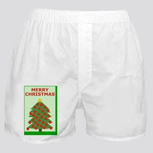 Merry Christmas Greeting Card for A G Boxer Shorts