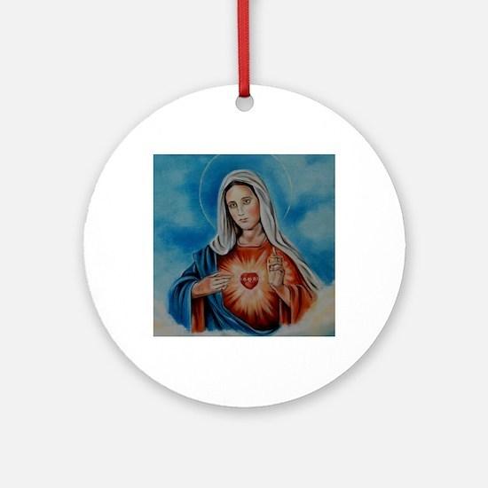 maria-heart Round Ornament