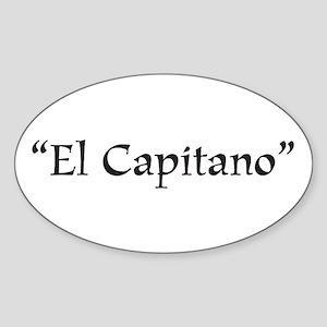 El Capitano Oval Sticker