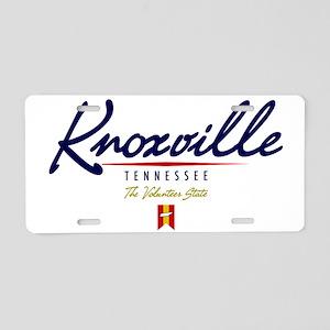 Knoxville Script W Aluminum License Plate