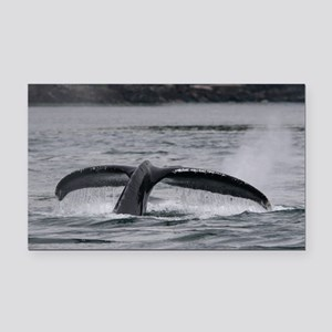 whale Rectangle Car Magnet