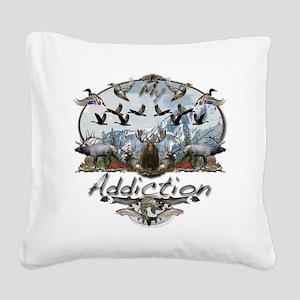 My addiction Square Canvas Pillow