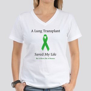 Lung Transplant Survivor Women's V-Neck T-Shirt