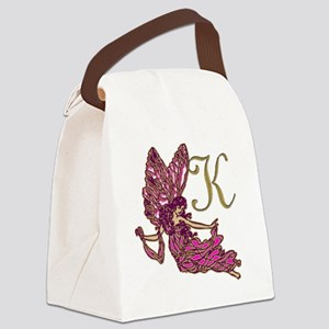 Fairy Monogram K Canvas Lunch Bag