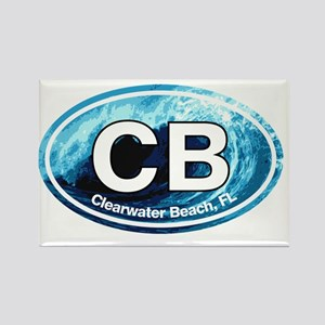 CB.Clearwater Beach.Wave Rectangle Magnet