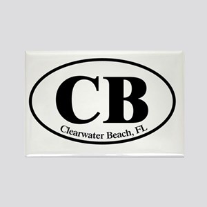 CB.Clearwater Beach.Dutch.white Rectangle Magnet