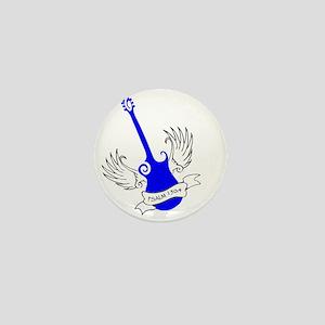 neon blue, guitar 2 Mini Button