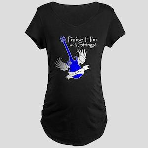 neon blue, guitar 2 Maternity Dark T-Shirt