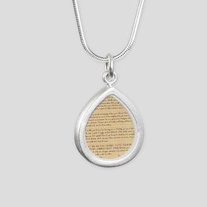 1087 TBCXSX DEAR SANTA Silver Teardrop Necklace