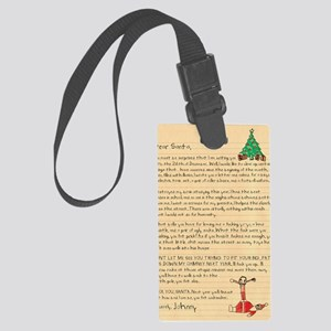 1087 TBCXSX DEAR SANTA Large Luggage Tag