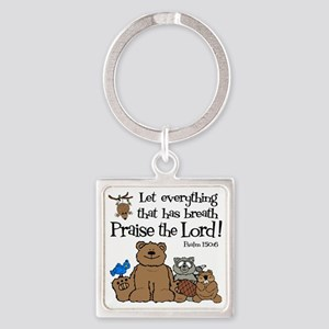 psalm 150 6 critters1 Square Keychain