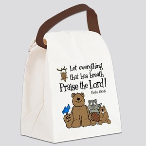 psalm 150 6 critters1 Canvas Lunch Bag