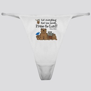 psalm 150 6 critters1 Classic Thong