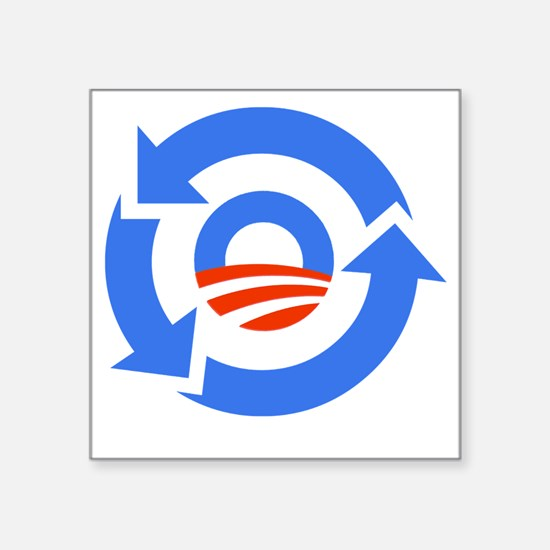 "Obama_recycle_01 Square Sticker 3"" x 3"""