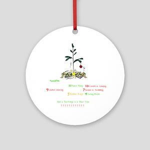 12days-blk Round Ornament